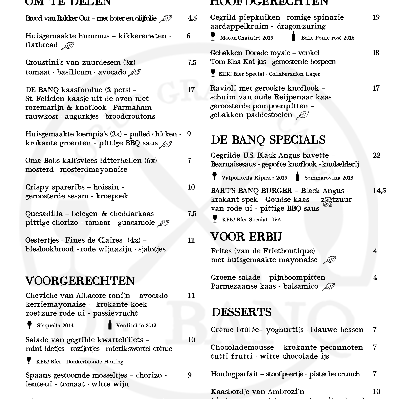 Menukaart - Diner (NL) - FOOD 09-01